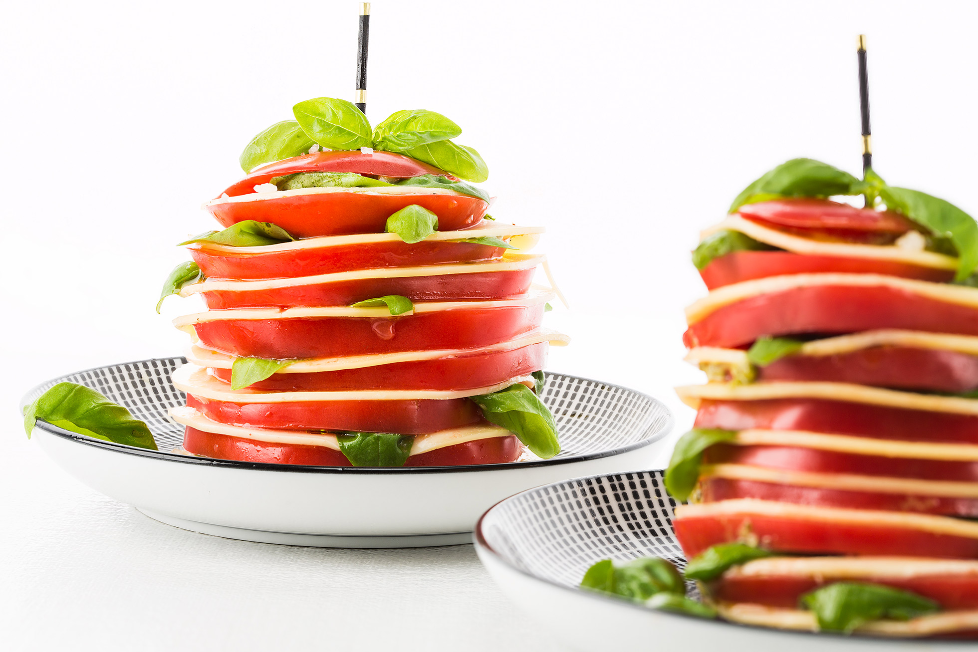Tomato millefeuilles with baldaran