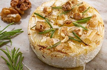 Baked Petit Camembert with honey