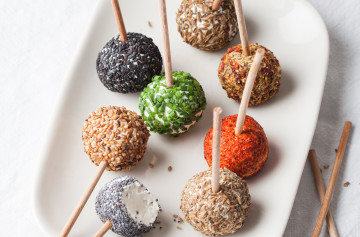 Goat Cheese Lollipops