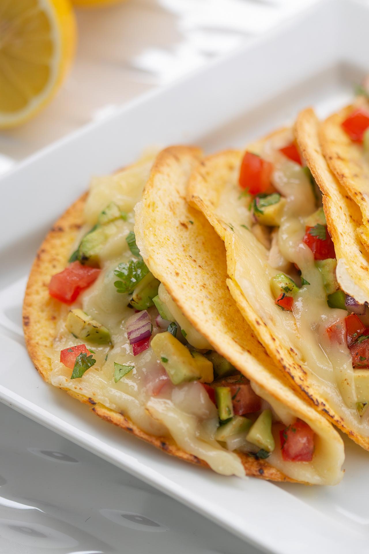 Charmidor and avocado tacos style