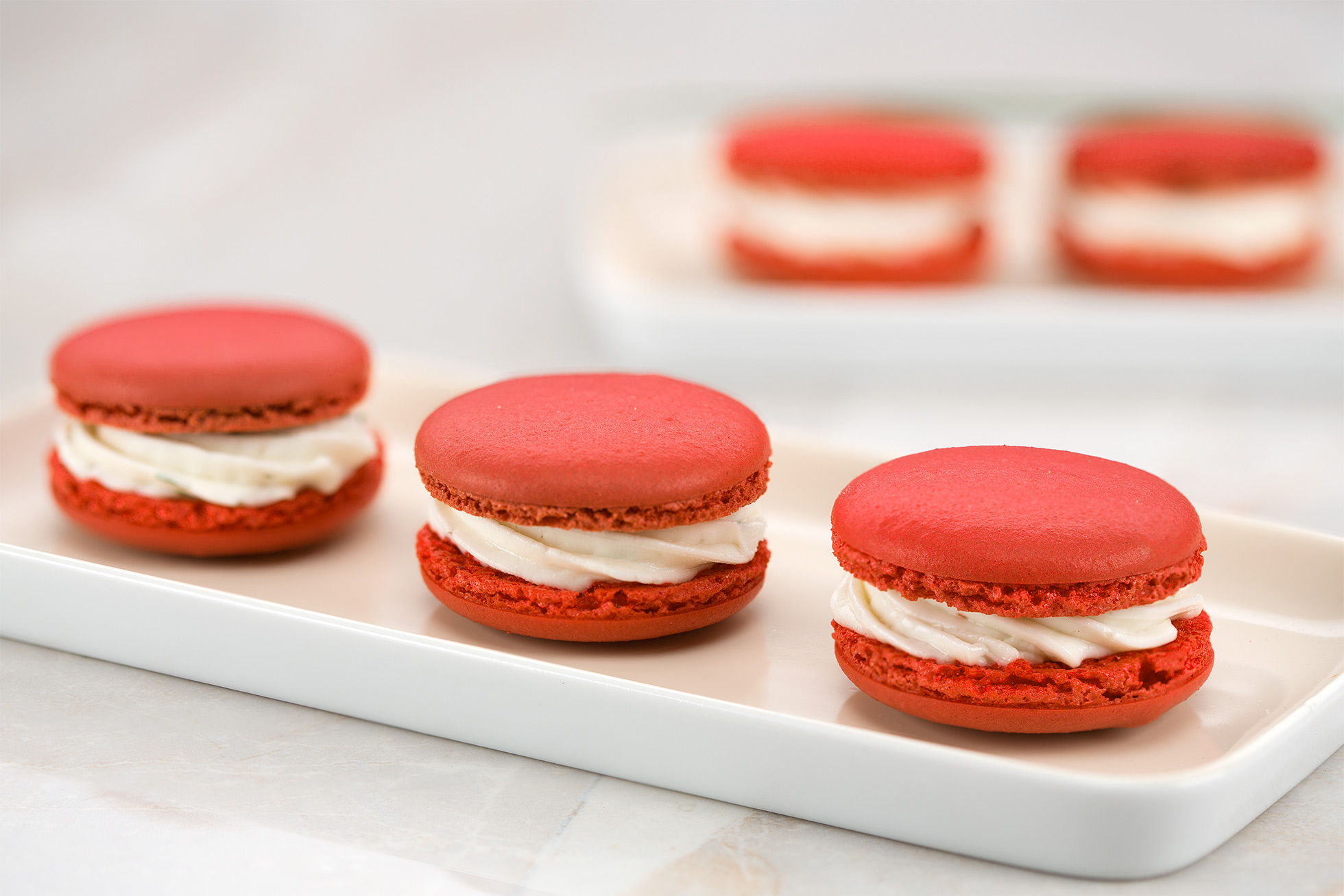 Macarons with Ile de France Chèvre