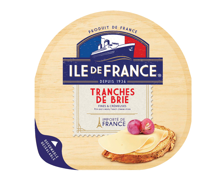 Tranches de Brie packaging