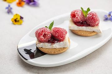Small fruit and Petit Brie bites