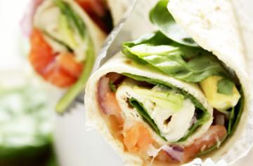 Brie and salmon wraps