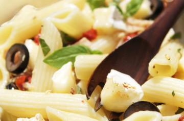 Sicilian penne with Petit Brie